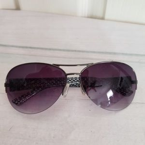 Nine West Womens Aviator Sunglasses